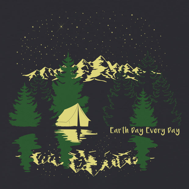 Earth Day Every Day Star Camping Racer Back Tank Top