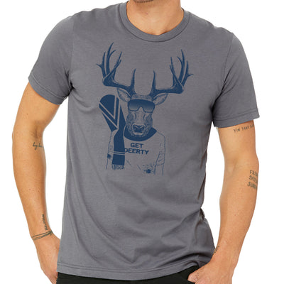 Get Deerty Snow Boarder Unisex T-Shirt