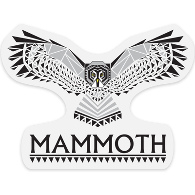 Mammoth Grey Owl Outdoor Decal