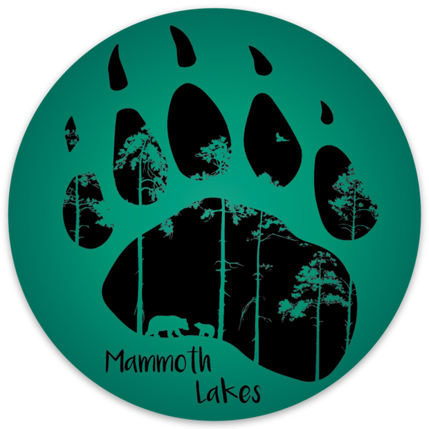 Mammoth Bear Paw Outdoor Decal