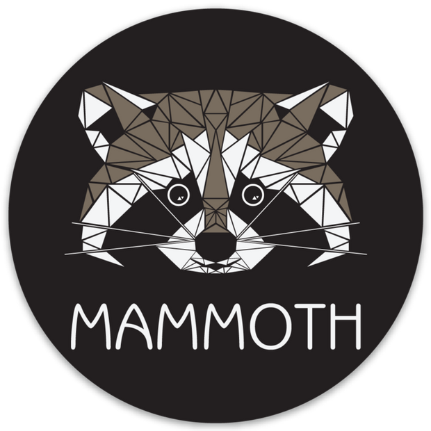 Mammoth Geo Raccoon Outdoor Decal