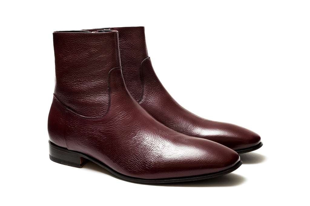 Miles Burgundy Grainé