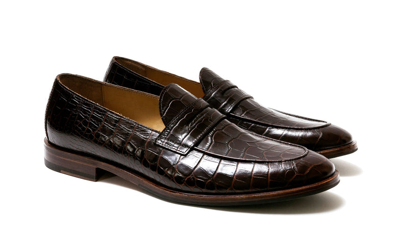 Giorgio Alligator Dark Brown