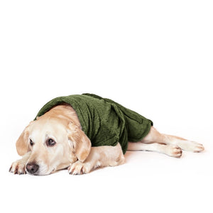 "Lill's Dog Drying Coat ""Pine Green"""