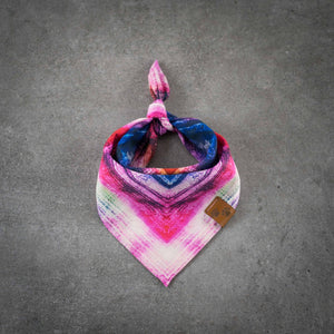 Dog Bandana When Green Loves Magenta