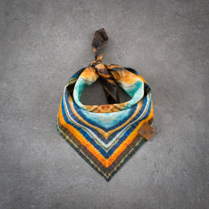 Dog Bandana Orange Meets Blue In The Midnight