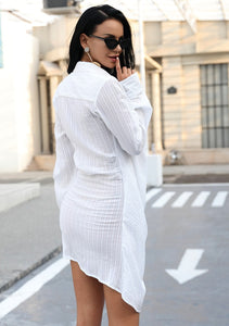 Kendra White Shirt Dress