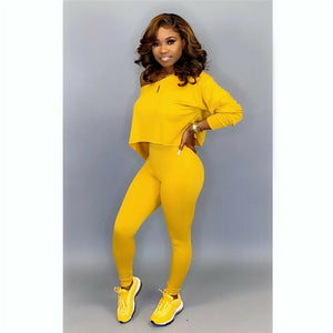 Off Shoulder 2pc Sweatsuit