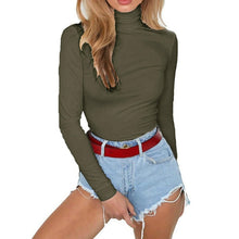 Load image into Gallery viewer, High Neck Cotton Long Sleeve Bodysuit