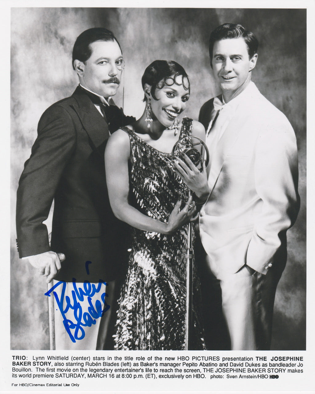 "Rubén Blades ""The Josephine Baker Story"" Promo Photo AUTOGRAPHED"