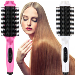 Curler And Straightener Electric Brush