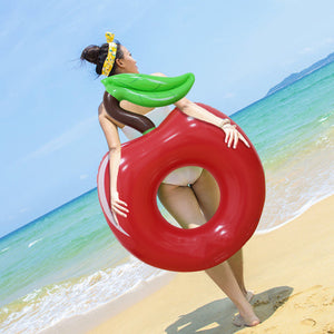 Red Cherry Swimming Pool Ring Float