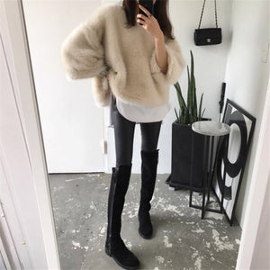 Loose Knitted Warm Elegant Sweaters