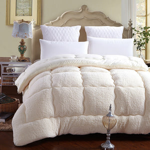 Patchwork duvet lamb wool Warm comforter
