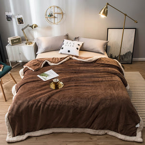 Flannel soft luxurious warm blanket