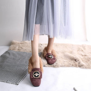 Genuine Leather/Wool Flat Shoes