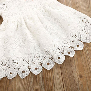 Floral Lace Short Sleeve Princess Dress