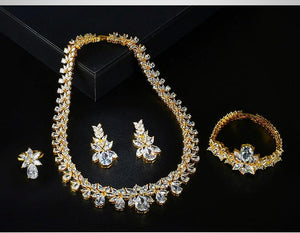 Wedding Jewelry Sparkling AAA Zircon Sets
