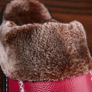Genuine Leather Home Indoor Non-Slip Thermal Slippers