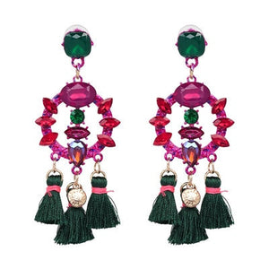 Handmade Tassel Big Earring