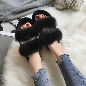 Rabbit Fur Slippers