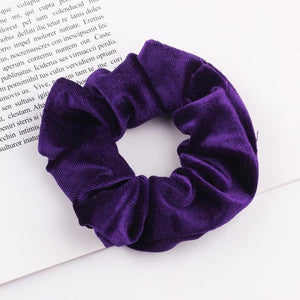 Velvet Scrunchies, Elastic Hair Rubber Bands
