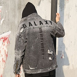 Retro Galaxy Embroidery Denim Jackets