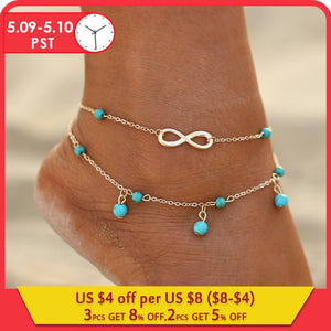 Infinite Beads Pendant Anklet