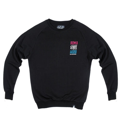 """ROMA CELEBRATION"" <br /> black sweatshirt"