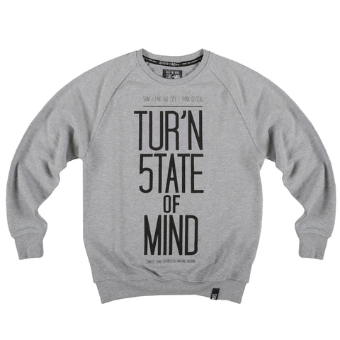 """TUR'N 5OM"" <br /> sweatshirt heater grey"