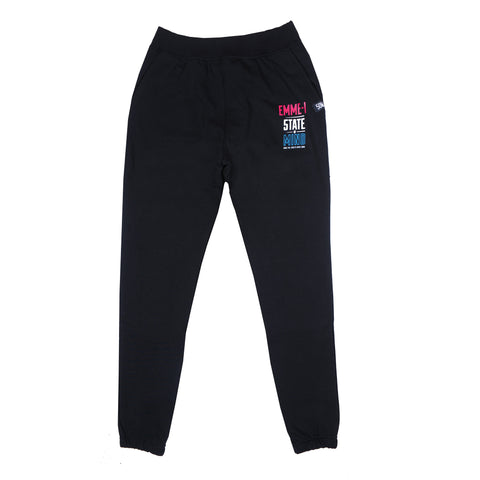 """EMME-I CELEBRATION"" <br /> black joggers"