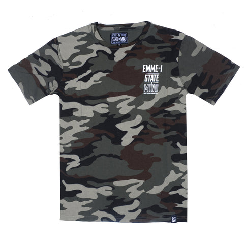 """EMME-I CELEBRATION"" <br /> tundra camo t-shirt"