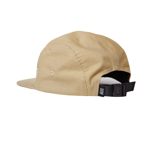 """RETROFUTURE"" 5 panel cap ripstop sand"