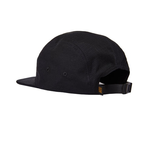 """RETROFUTURE"" 5 panel cap ripstop black"