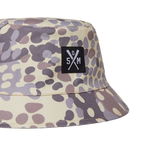 """BOX LOGO ARMY"" bucket Camo / Black doubleface"