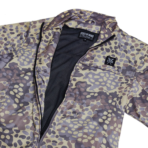 """RETROFUTURE ARMY"" German camo track jacket"