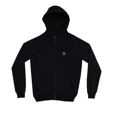 """Retrofuture Basic"" zip hoodie black"