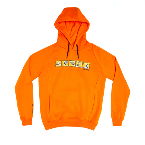 """5OM x BASTARD"" Bottle Flip orange hoodie reflective"