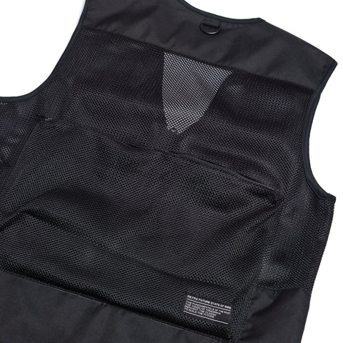 """RETROFUTURE"" Fisherman Vest Black"