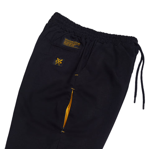 """RETROFUTURE"" black cargo shorts"