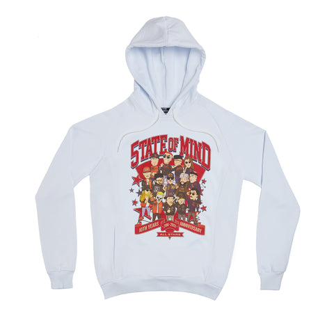 """10 YEARS ALL STARS"" Hoodie white + Poster"