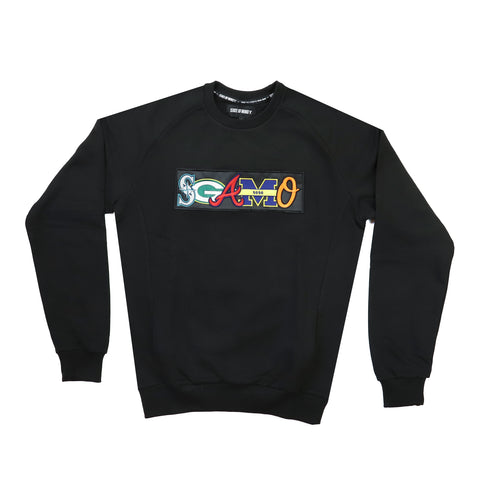 """5OM x SGAMO 30 Yrs"" black sweatshirt"