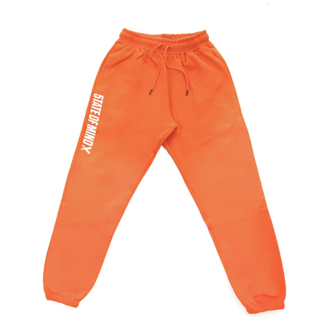 """BOX LOGO"" jogger pants orange"