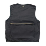 """RETROFUTURE"" Fisherman Vest black twill"
