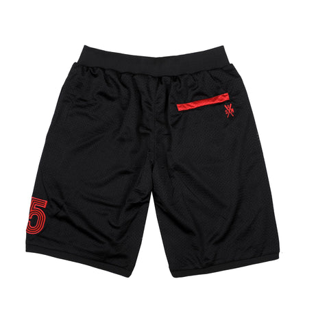 """PIRATES"" <br /> black shorts basket"