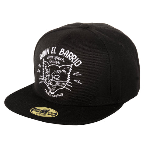 """RIDIN EL BARRIO"" <br /> snapback black"