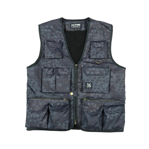 """RETROFUTURE ARMY"" Fisherman Vest German camo"