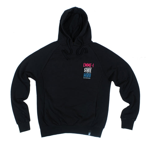 """EMME-I CELEBRATION"" <br /> black hoodie"