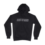 """SINCE THE STREETS"" black reflective hoodie"