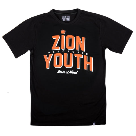 """ZION YOUTH 5OMxALBOROSIE"" <br /> t-shirt black"